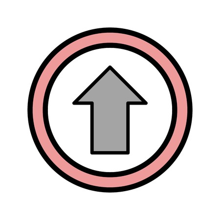 Vector Go straight ahead Icon Sign Icon Vector Illustration For Personal And Commercial Use...