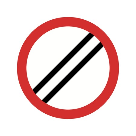 Vector National speed limit applies Icon Sign Icon Vector Illustration For Personal And Commercial Use... Clean Look Trendy Icon... Ilustração