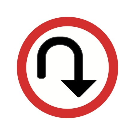 Vector U-turn Icon Sign Icon Vector Illustration For Personal And Commercial Use...