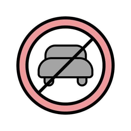 Vector No entry for motor vehicle Icon Sign Icon Vector Illustration For Personal And Commercial Use...