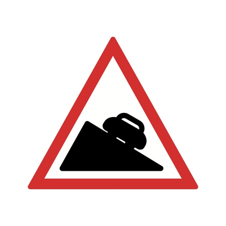Vector Dangerous descent Icon Sign Icon Vector Illustration For Personal And Commercial Use... Clean Look Trendy Icon... Ilustração