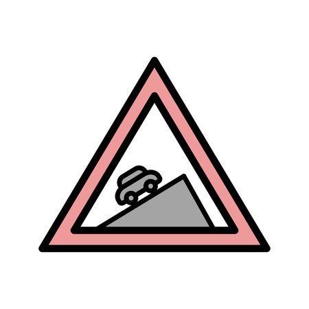 Vector Steep ascent Icon Sign Icon Vector Illustration For Personal And Commercial Use...