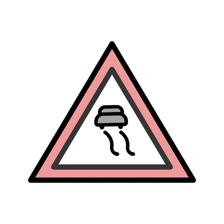 Vector Slippery roads Icon Sign Icon Vector Illustration For Personal And Commercial Use...