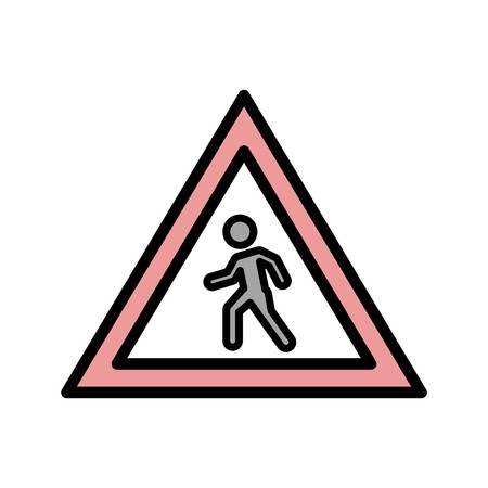 Vector Pedestrian crossing Icon Sign Icon Vector Illustration For Personal And Commercial Use...