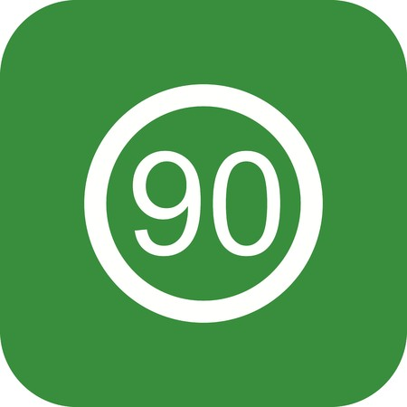 Vector Speed limit 90 Icon Sign Icon Vector Illustration For Personal And Commercial Use...