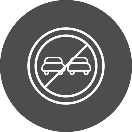 Vector Overtaking prohibited Icon Sign Icon Vector Illustration For Personal And Commercial Use...Clean Look Trendy Icon... Archivio Fotografico - 126859398