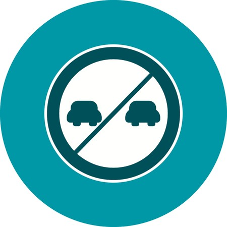 Vector Overtaking prohibited Icon Sign Icon Vector Illustration For Personal And Commercial Use...Clean Look Trendy Icon... Archivio Fotografico - 126859436