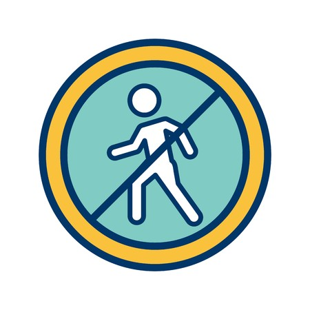 Vector No entry for pedestrians Icon Sign Icon Vector Illustration For Personal And Commercial Use...Clean Look Trendy Icon...