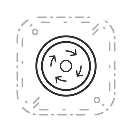 Vector Compulsory roundabout Icon Sign Icon Vector Illustration For Personal And Commercial Use...Clean Look Trendy Icon... Vetores