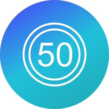 Vector Speed limit 50 Icon Sign Icon Vector Illustration For Personal And Commercial Use...