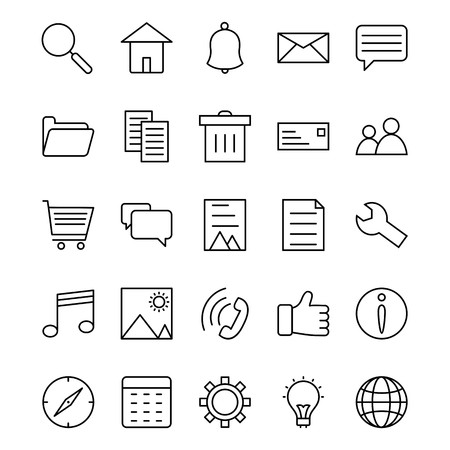 Basic UI Vector Icon Set