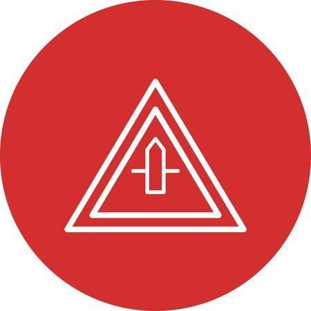Vector Minor Cross Road Sign Icon  イラスト・ベクター素材