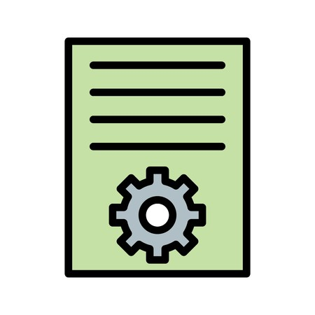 Vector Article Marketing Icon