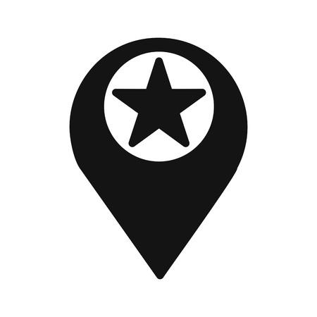 Vector Starred Location Icon Illustration