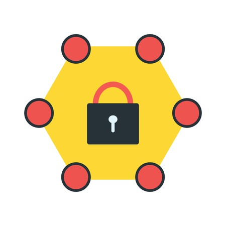 Vector Protected Network Icon Illustration