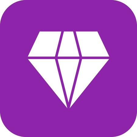Vector Diamond Icon Stok Fotoğraf - 113887653