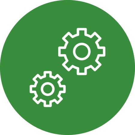 Vector Settings Icon Illustration