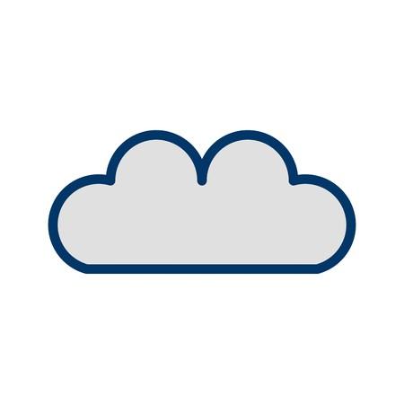 Vector Cloud Icon Иллюстрация