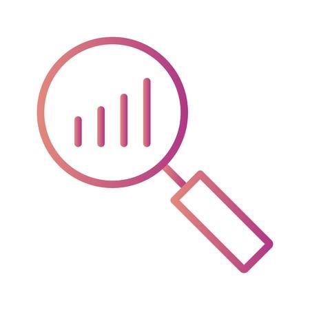Vector Analysis Icon Иллюстрация