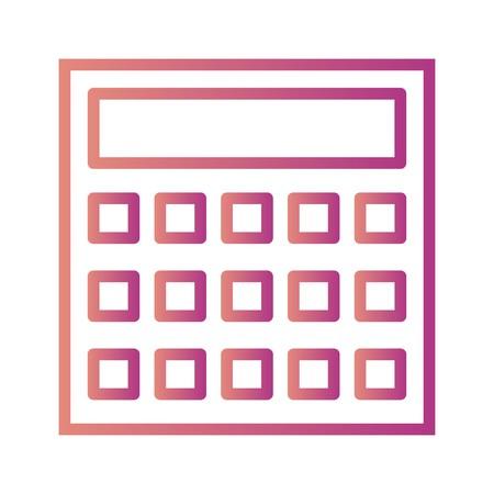 Vector Calculation Icon Иллюстрация