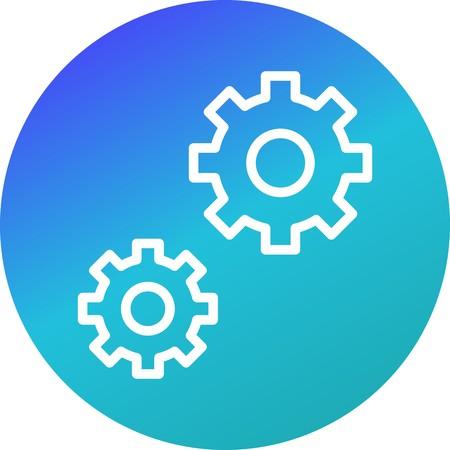Vector Settings Icon 일러스트