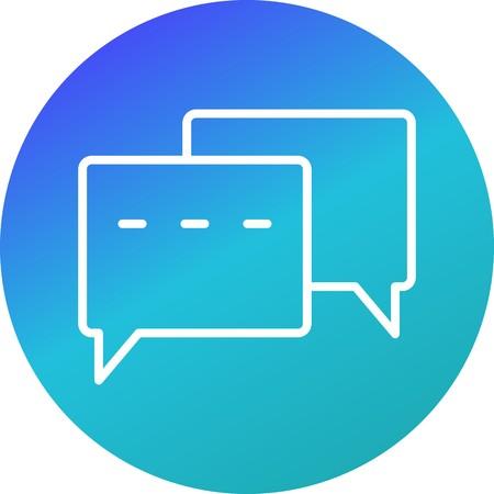 Vector Conversation Icon Illustration