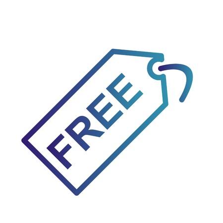 Vector Free Tag Icon Иллюстрация