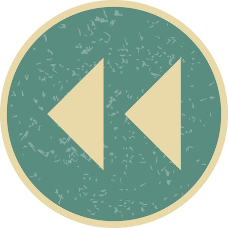 Vector Backward Arrows Icon