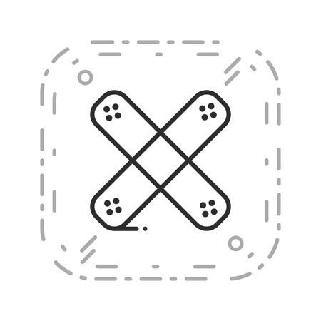 Wektor bandaż ikona