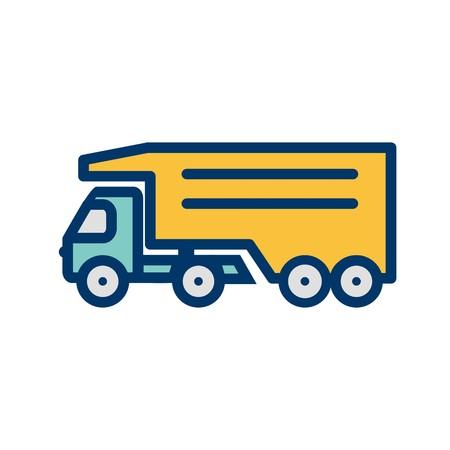 Vector Tipper Truck Icon