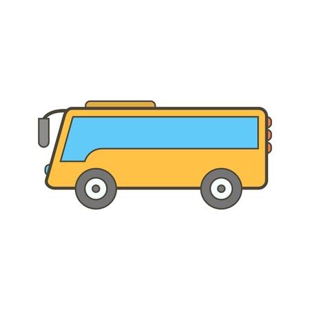 Vector icono de bus Ilustración de vector