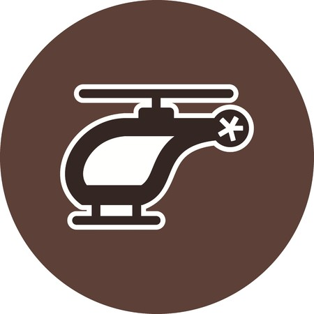 Vector Helicopter Icon Stock fotó - 126544896