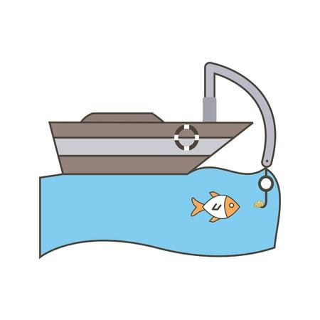 Vector Fishing Boat Icon