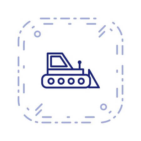 Vector Bulldozer Icon 向量圖像
