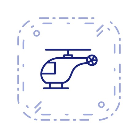 Vector Helicopter Icon Stock fotó - 126545308