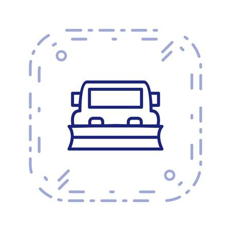 Vector Snowplow Icon  イラスト・ベクター素材