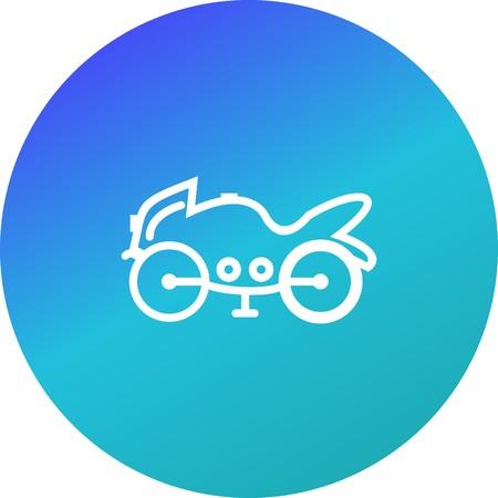 Vector Heavy Bike Icon Vettoriali