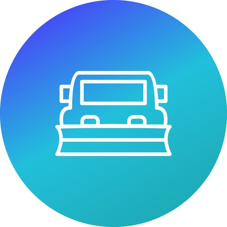 Vector Snowplow Icon 向量圖像