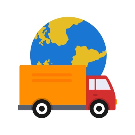 Vector Global Delivery Icon