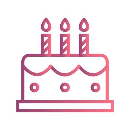 Vektor-Kuchen-Symbol