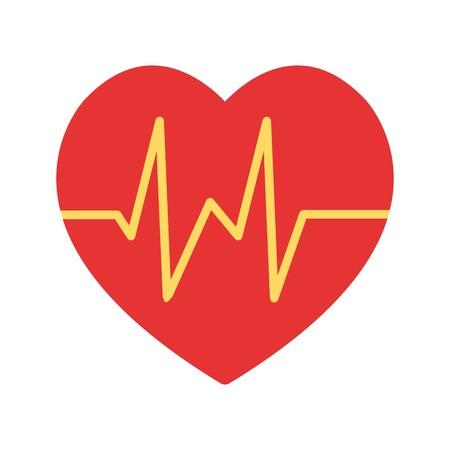 Vector Heart Beat Icon Vector Illustration