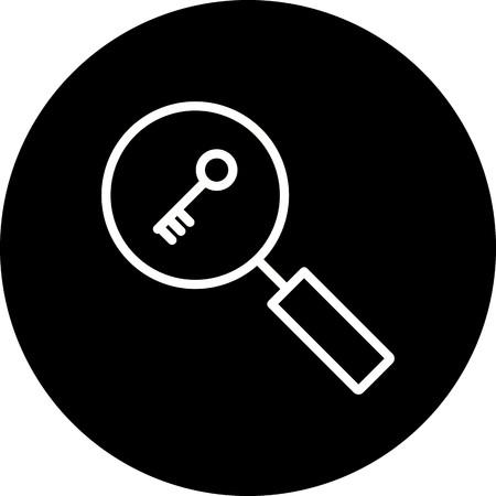 Vector Keyword Search Icon  イラスト・ベクター素材
