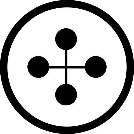 Vector Link Building Icon Illustration