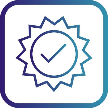 Icône de timbre valide de vecteur Vecteurs