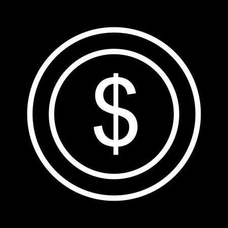 Vector Dollars Coin Icon