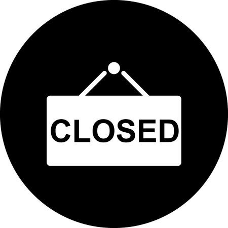 Vector Closed Sign Icon