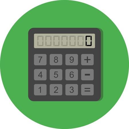 Icona calcolatrice vettoriale