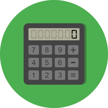 Vector rekenmachinepictogram
