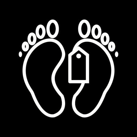 Vector Toe Tag Icon