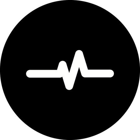 Vector Pulse Rate Icon Illusztráció